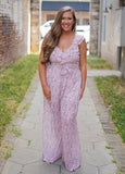 Fancy That Floral Jumpsuit - Curvy