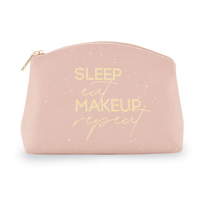 Sleep, Eat, Makeup, Repeat Mud Pie Cosmetic Bag