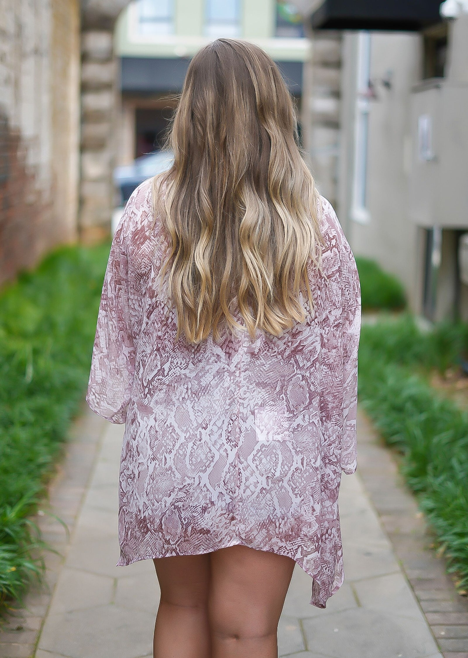 All The Feels Snakeskin Kimono - Curvy