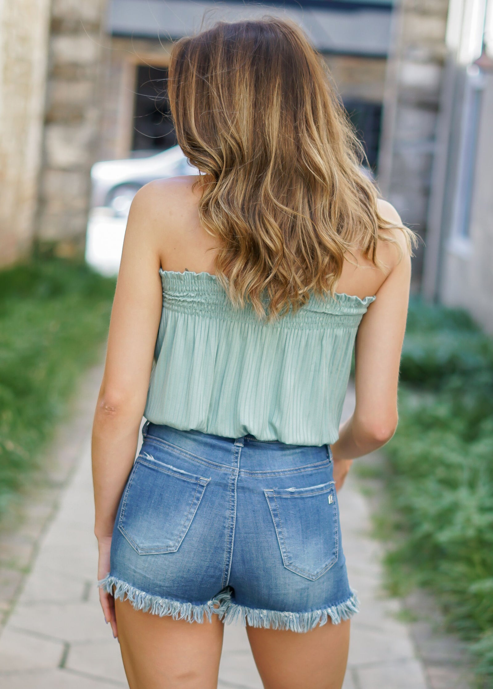 Smocked Tube Top - Jade