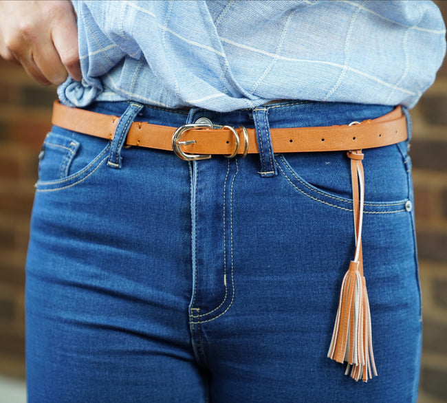 Tassel Faux Leather Belt