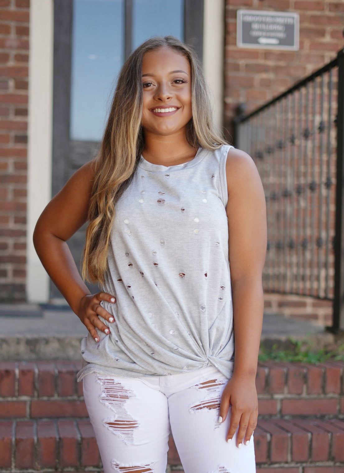 Dylan Distressed Tank