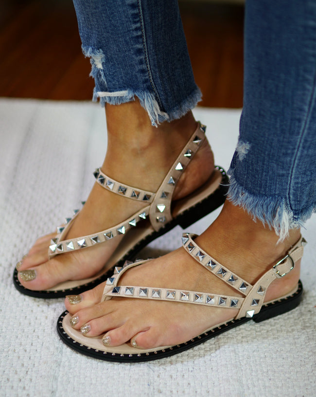 Spice It Up Studded Sandals