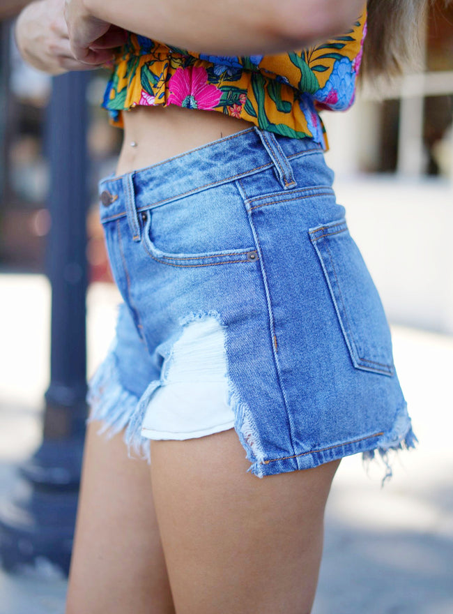 Dakota Distressed Denim Shorts
