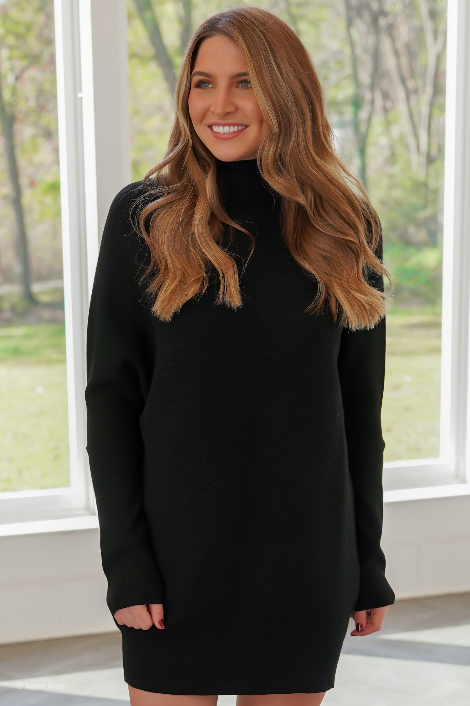 Just Dreamy Sweater Tunic - Black