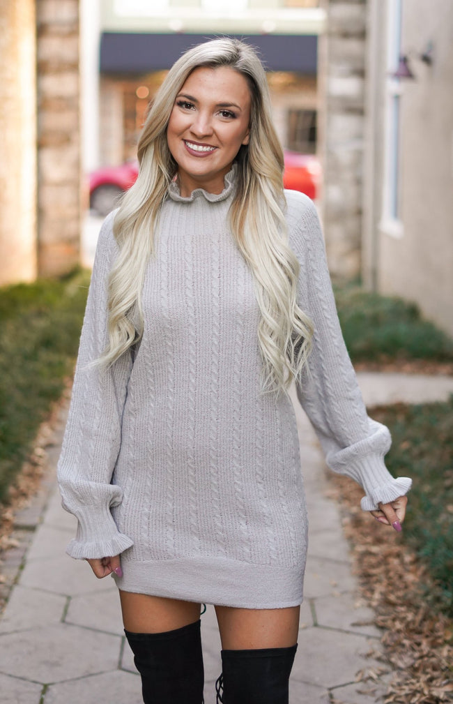 Twisted Winter Sweater Dress
