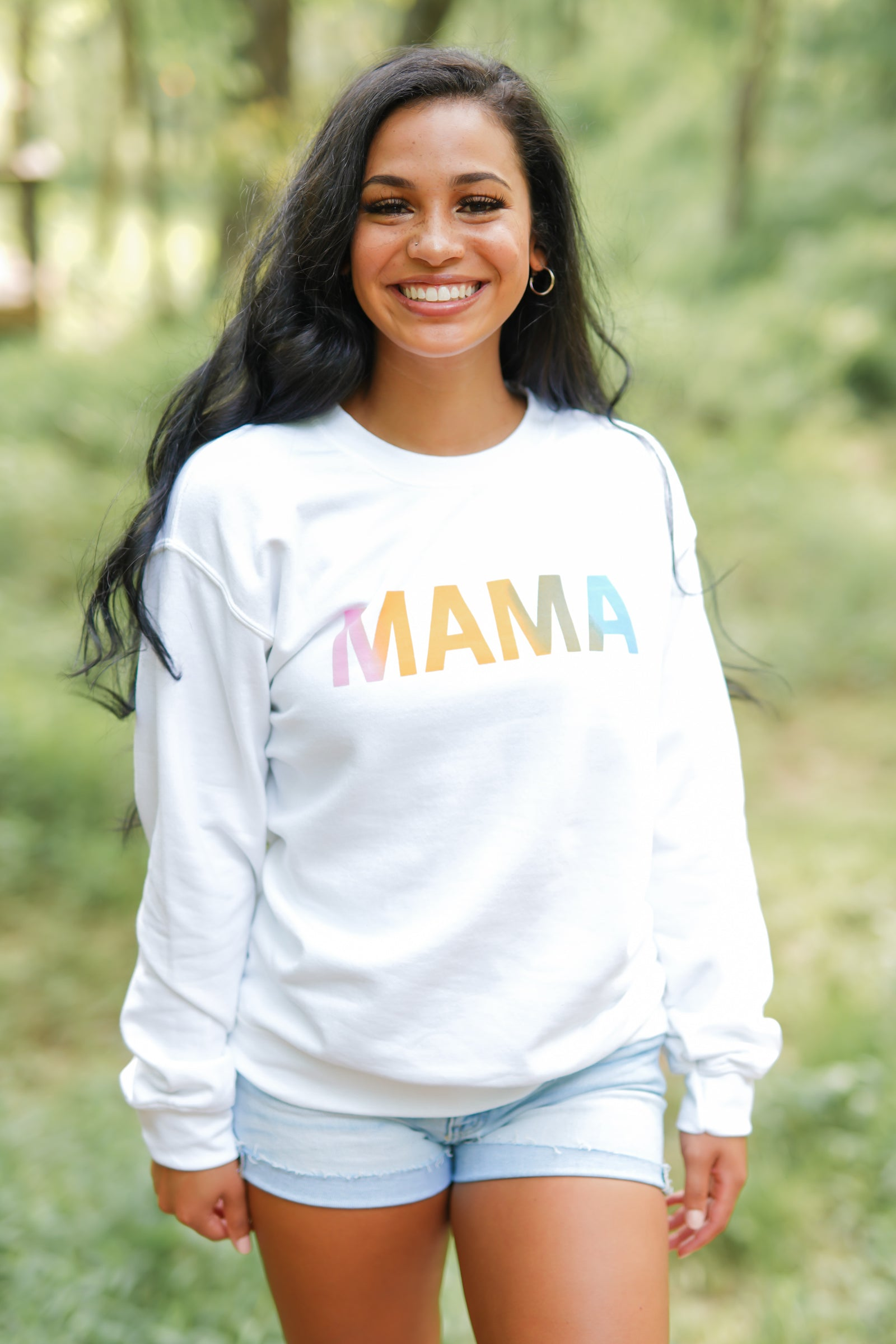 Mama Graphic Sweatshirt - White