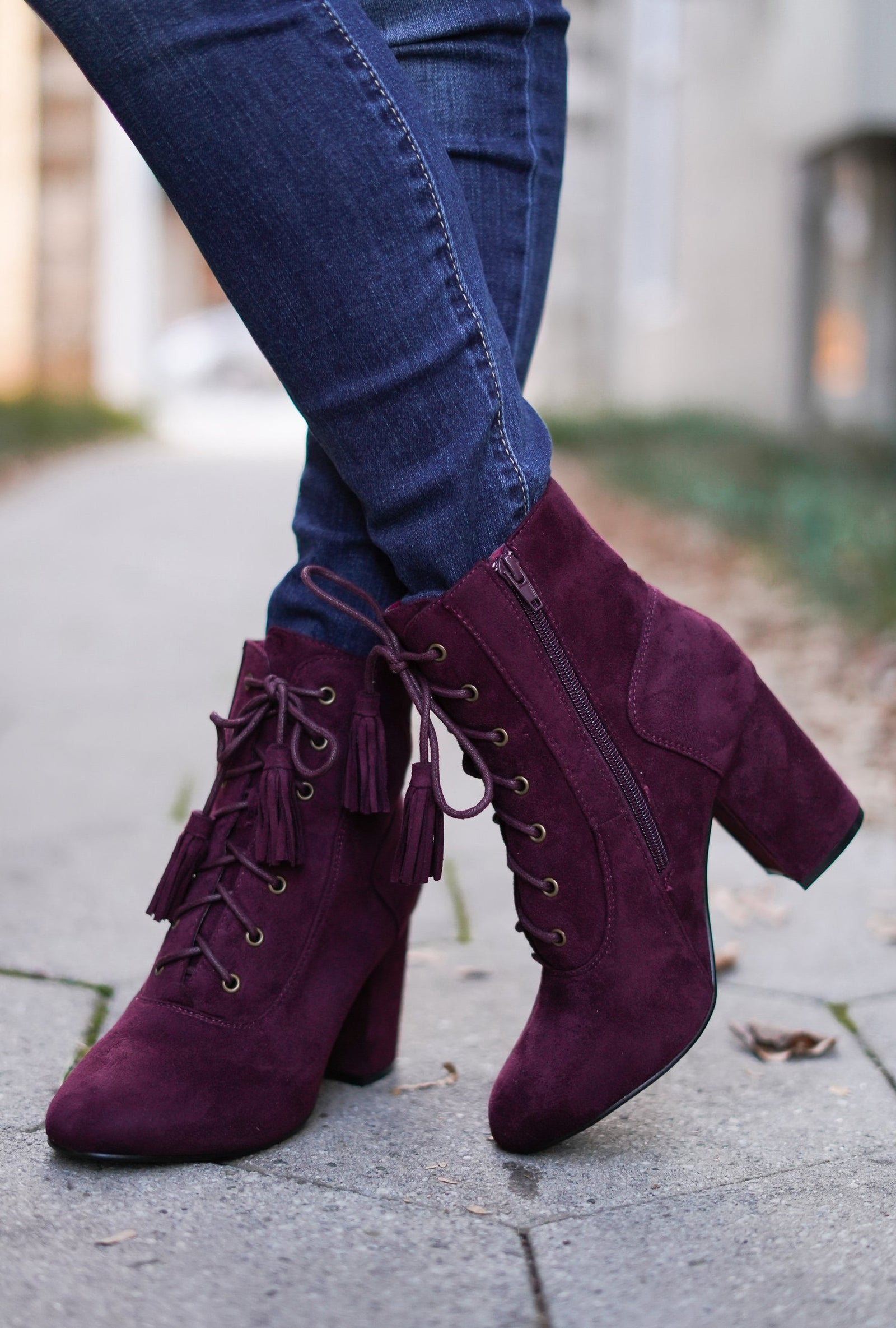 Lela Lace Up Booties