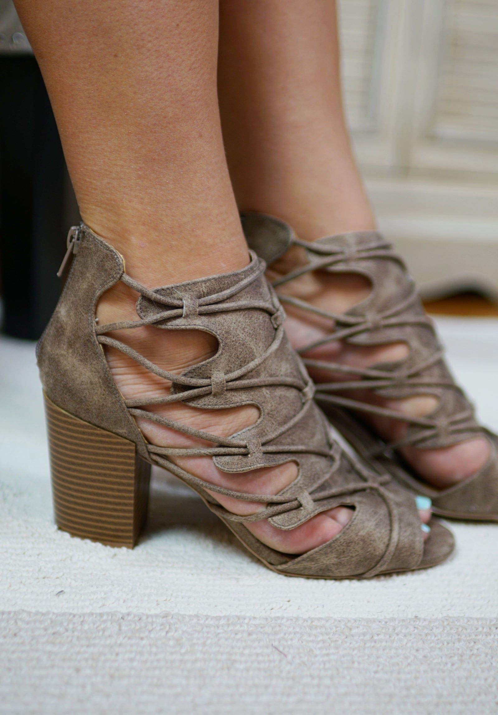 Laura Lace Up Heels