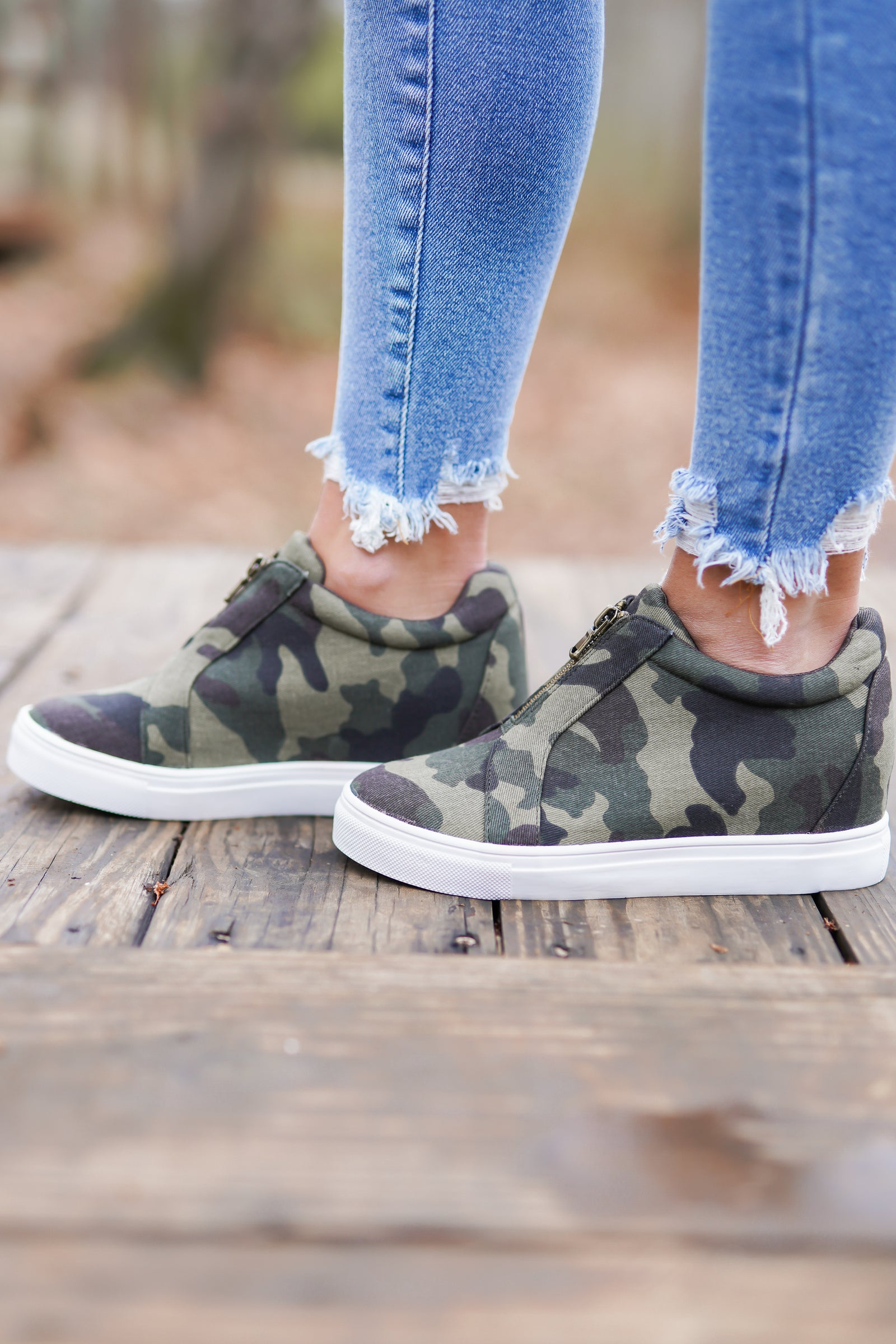 Hidden Camo Wedge Sneakers