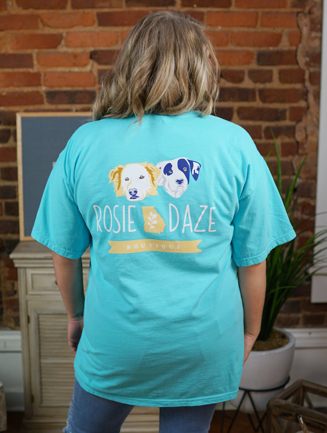 Rosie Daze Spring Dog Logo Top