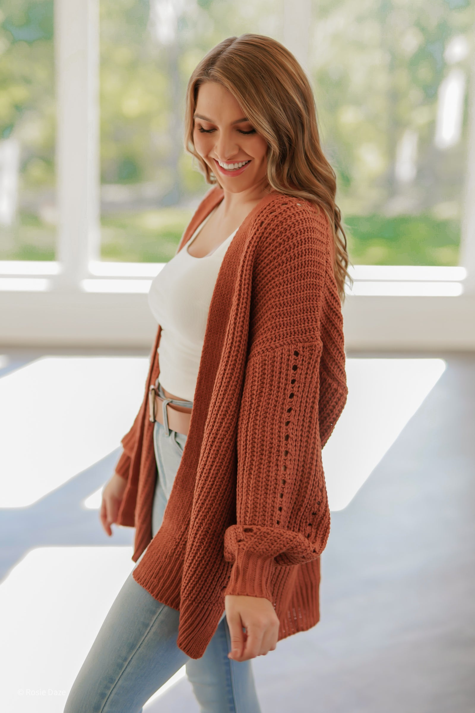 Folklore Cardigan - Clay