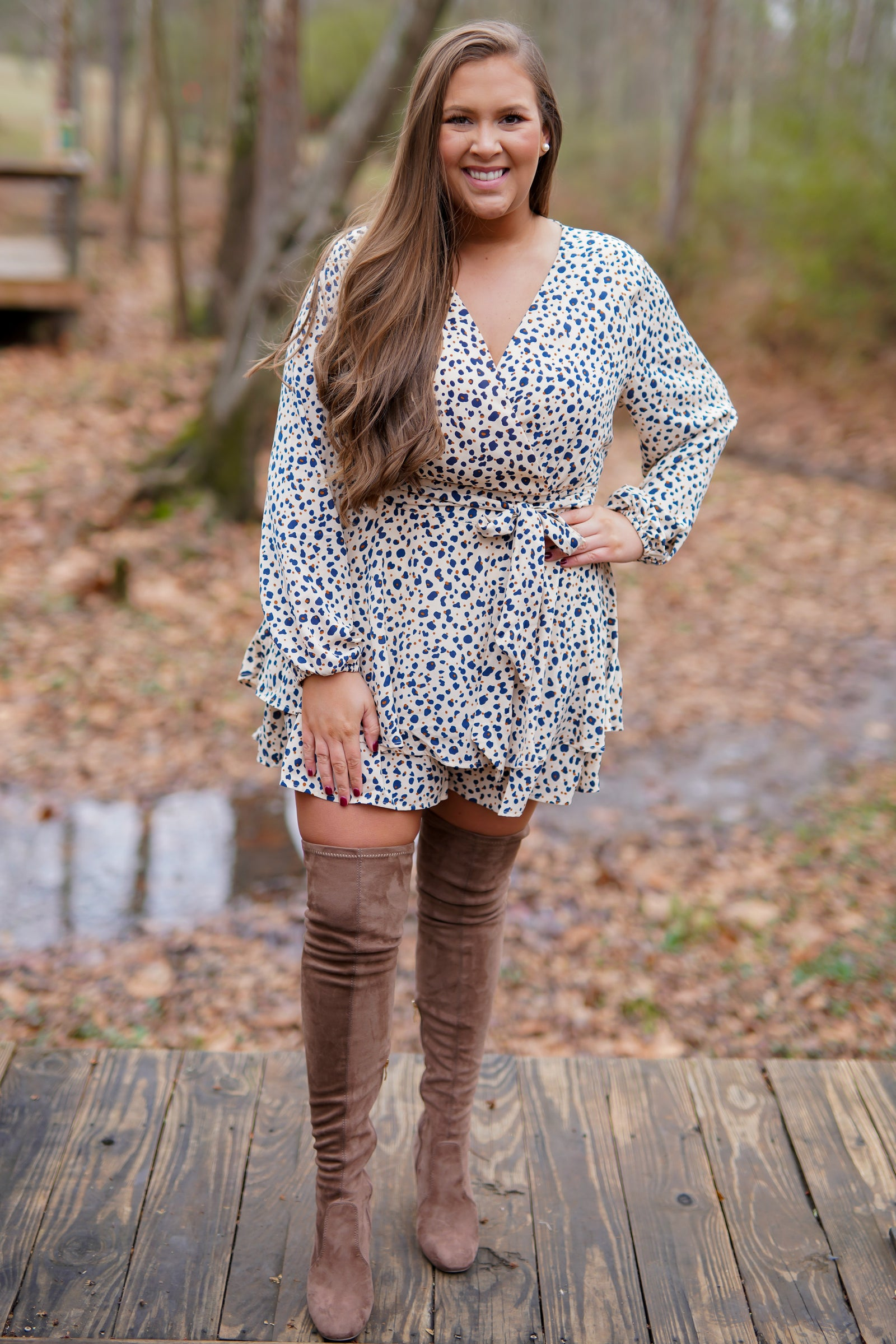 Speckled Romper
