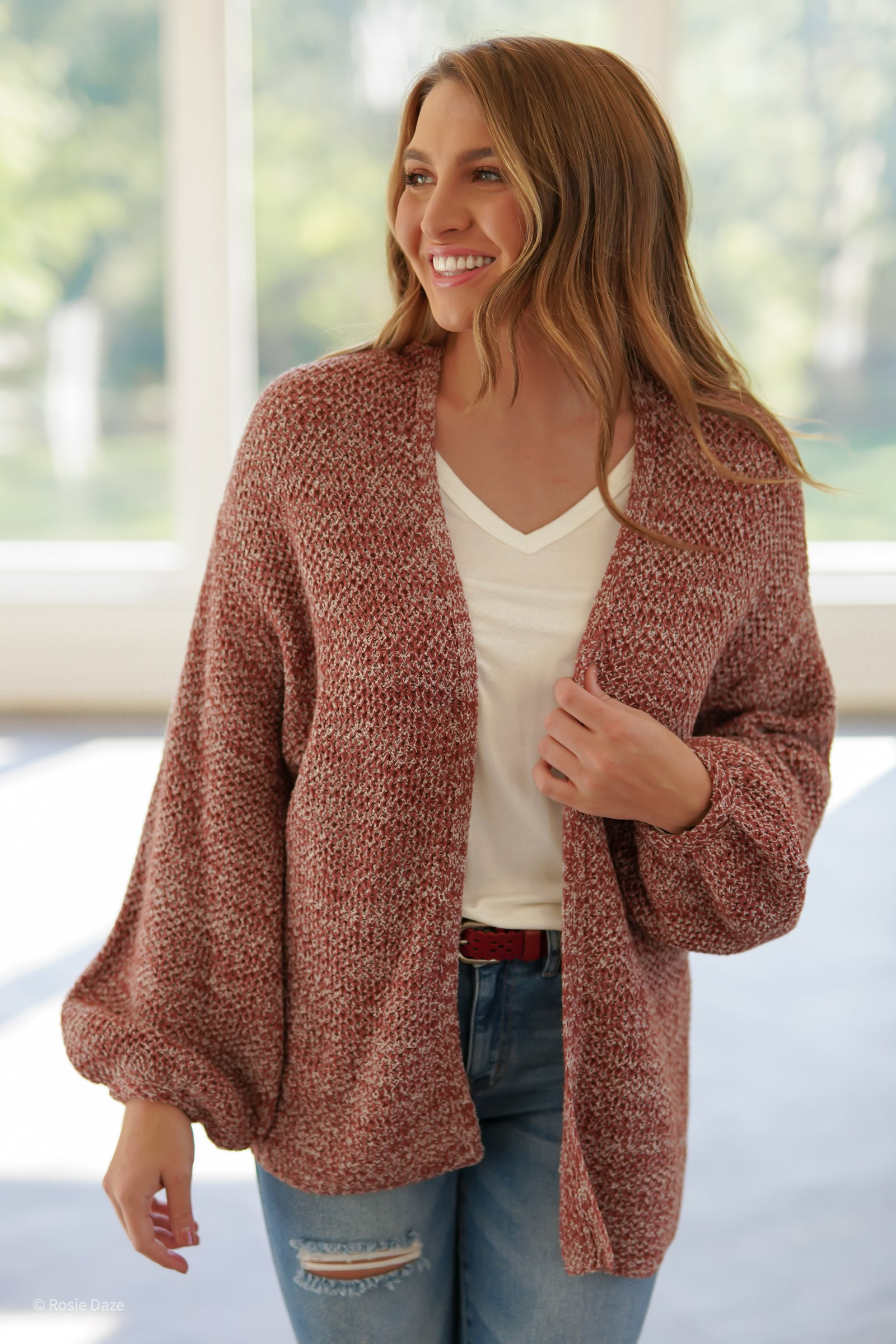 Red Muscadine Cardigan