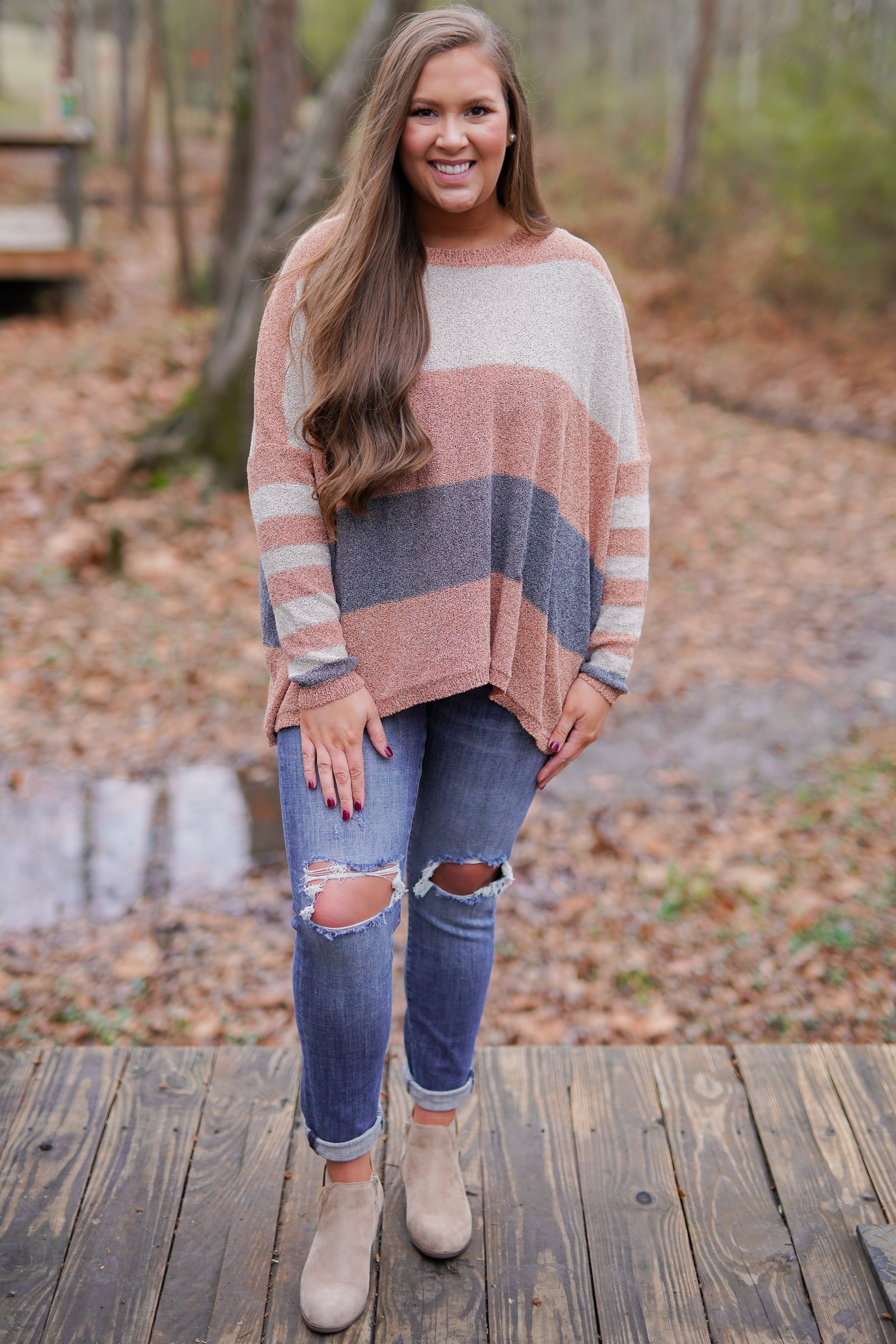 Knock Out Colorblock Sweater