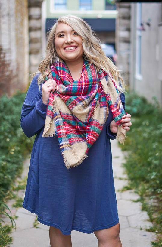 Spiced Apple Blanket Scarf