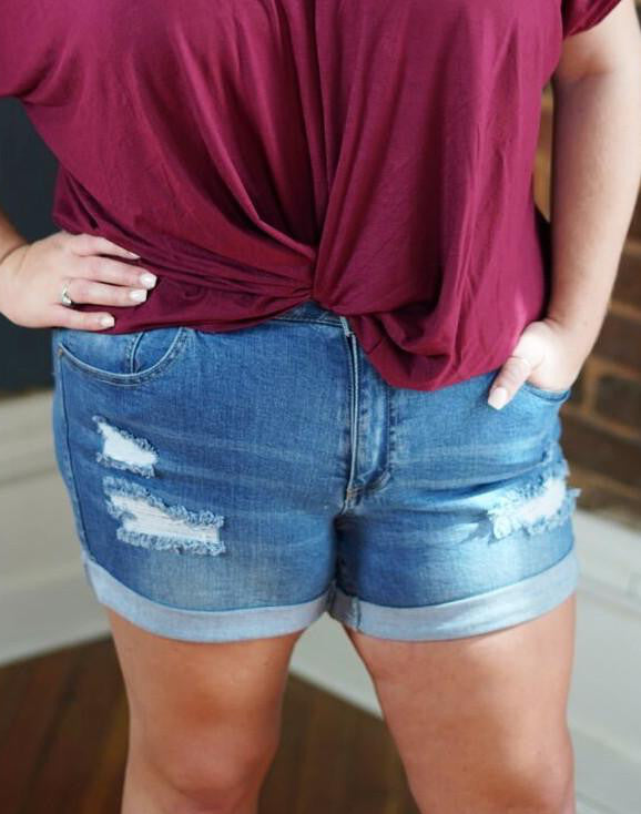 Denim Shorts - Plus