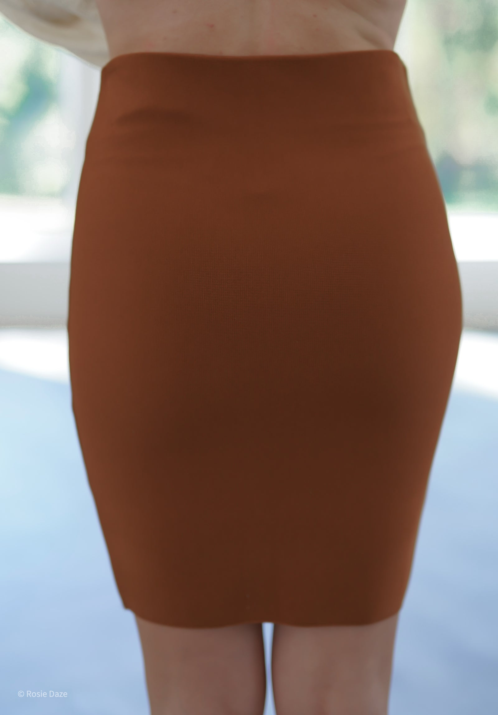 Curvature Bodycon Skirt - Caramel