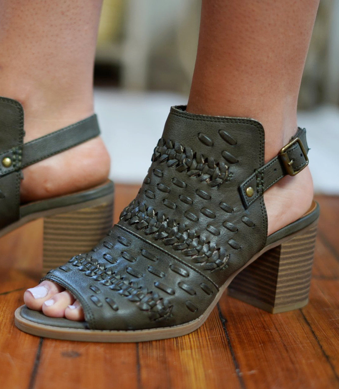 Gotta Have The Olive Bootie