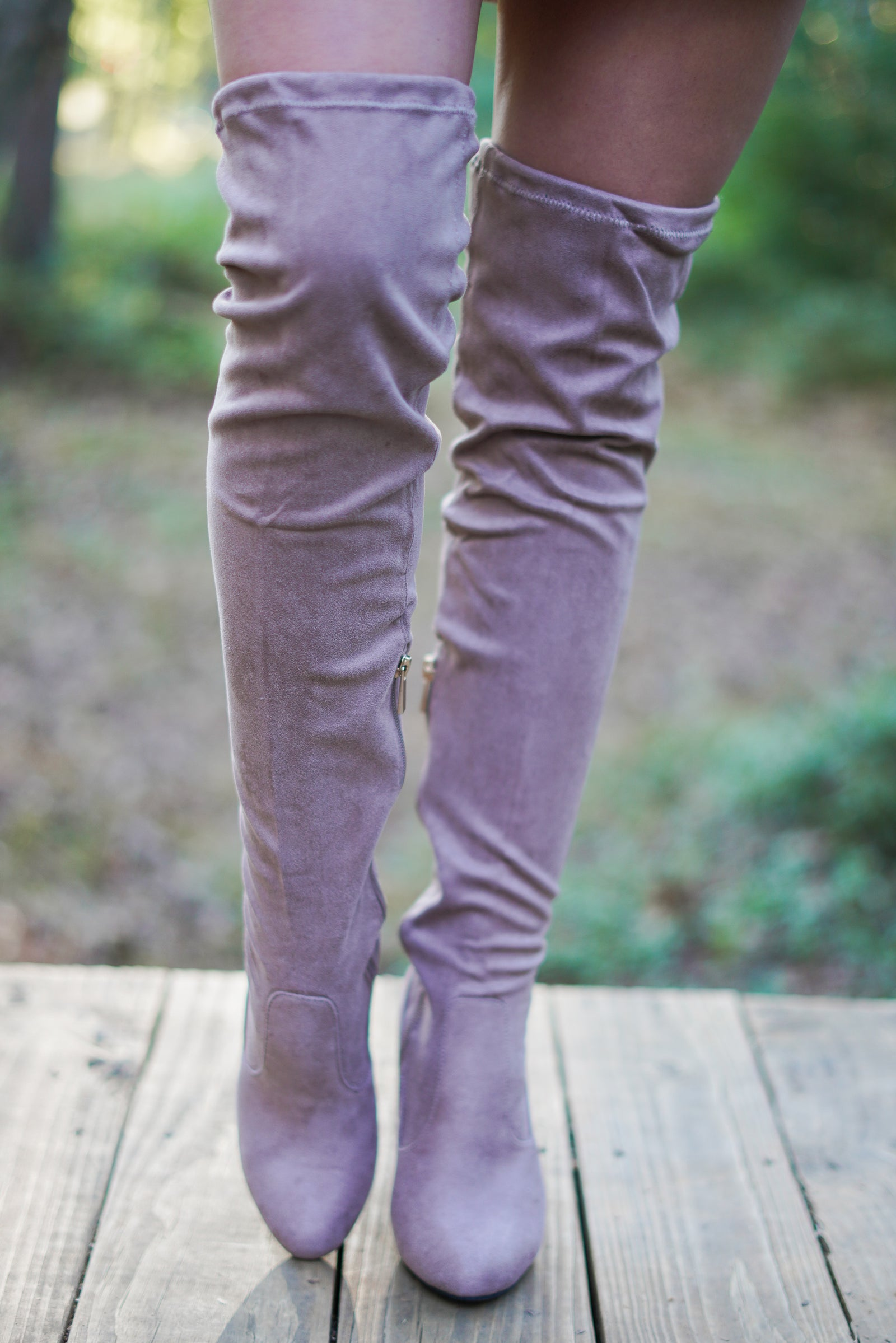 Vermont Thigh Highs - Taupe