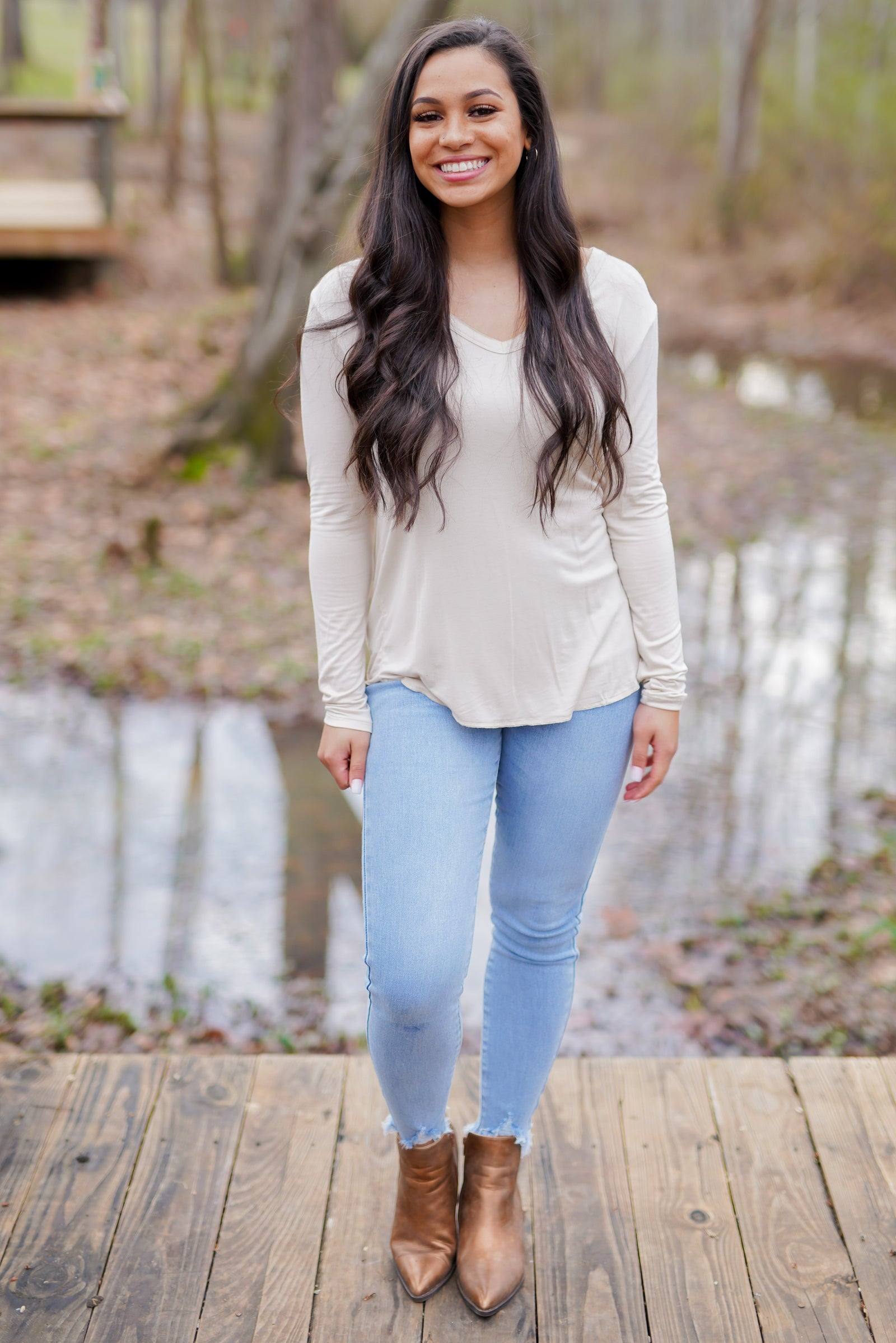 Basic Babe Long Sleeve - Beige
