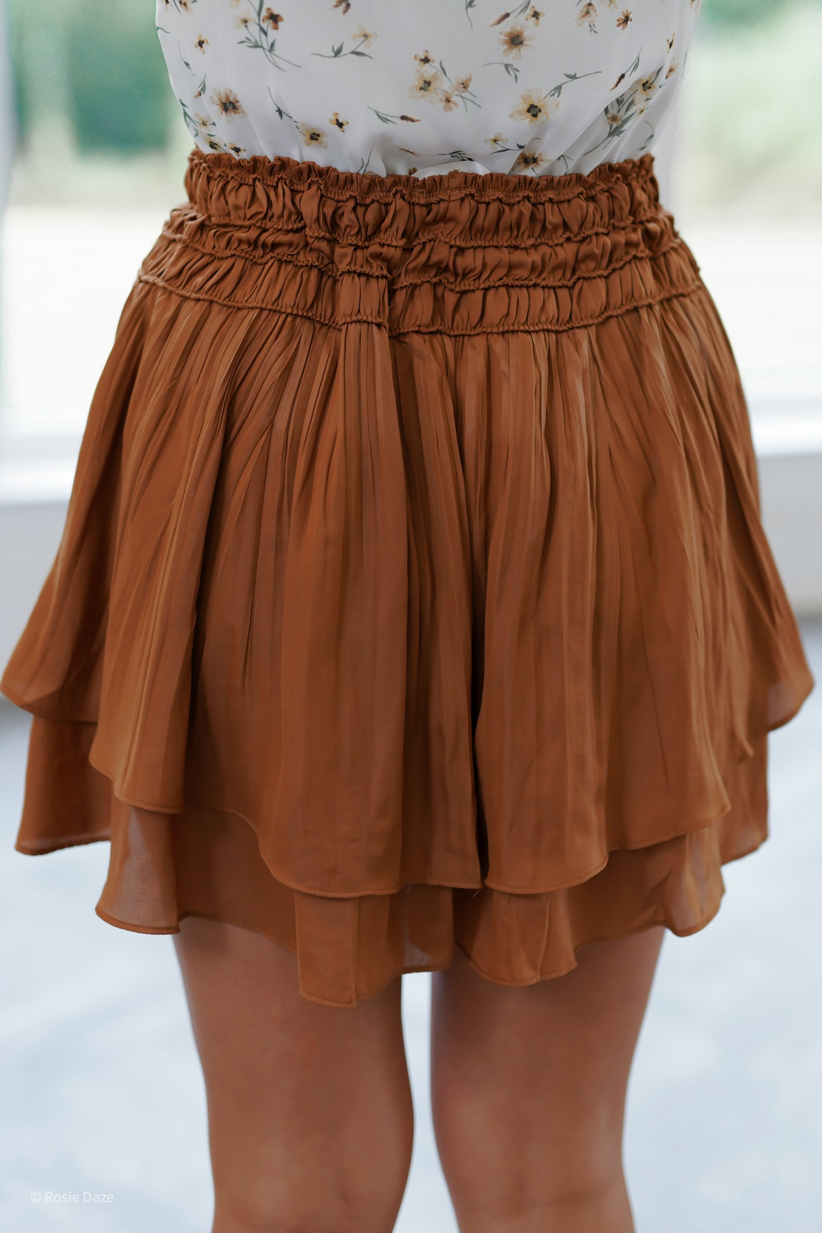 Layered Skirt - Caramel