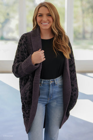 Hot Cocoa Cardigan - Taupe