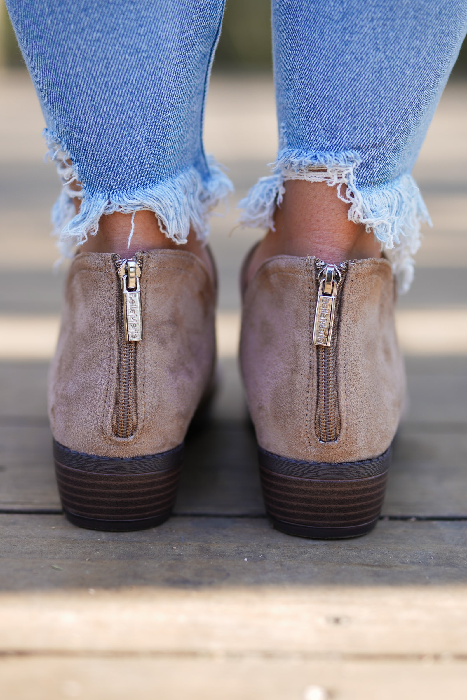 Gilmore Booties - Taupe