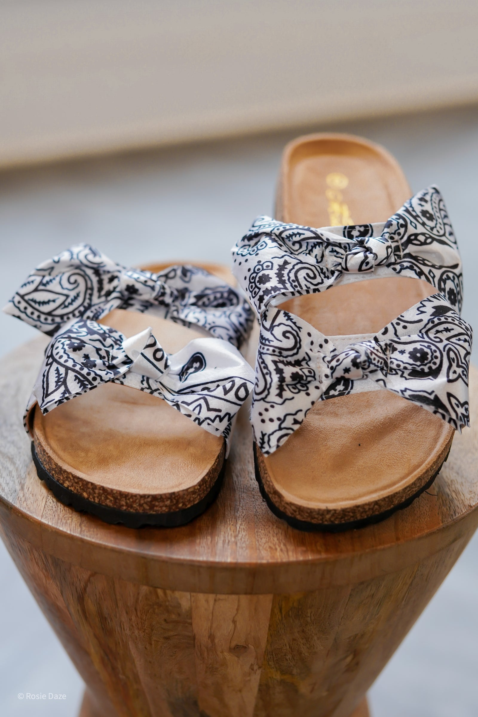 Bandana Boardwalk Sandals - White