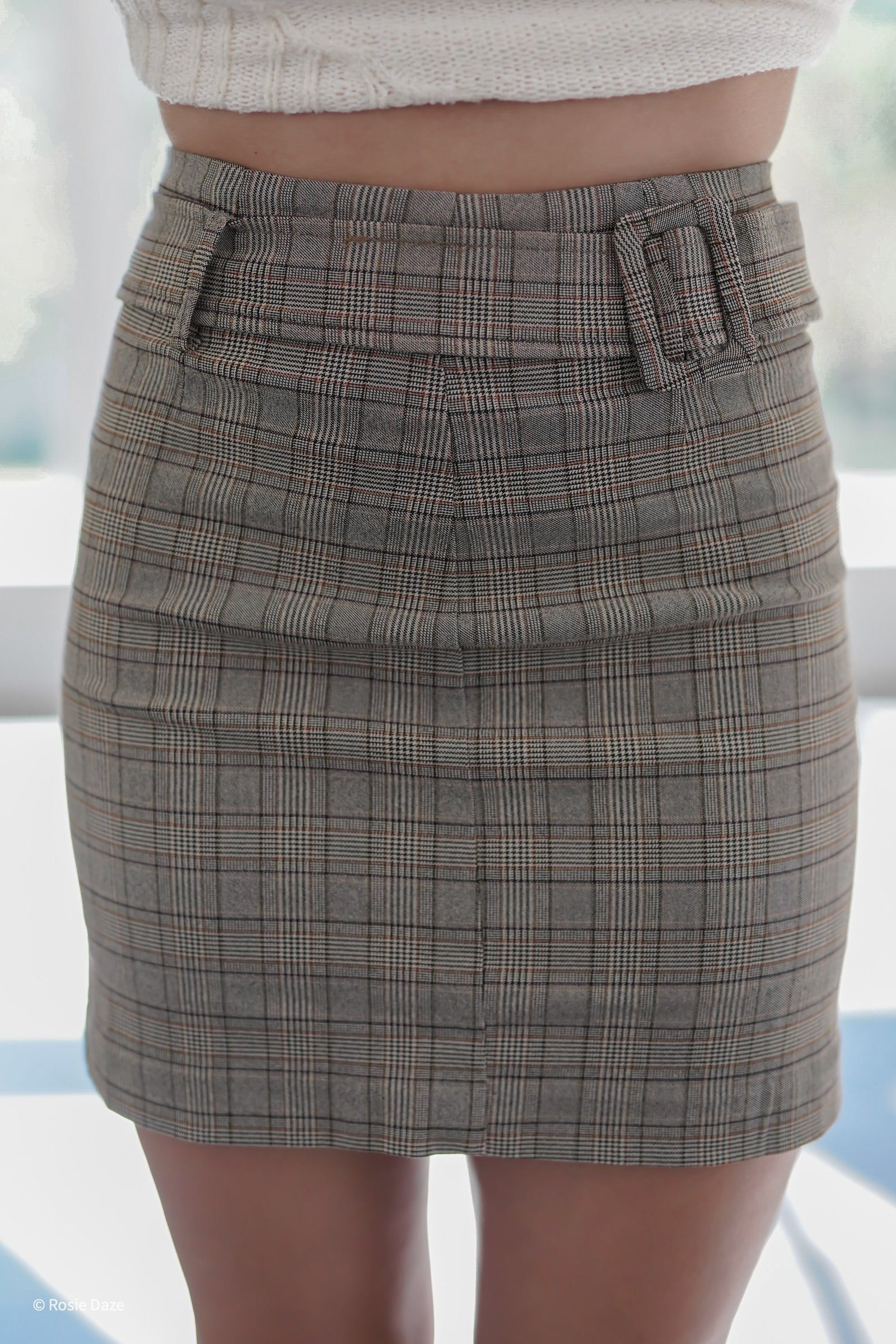 Lecture Plaid Skirt