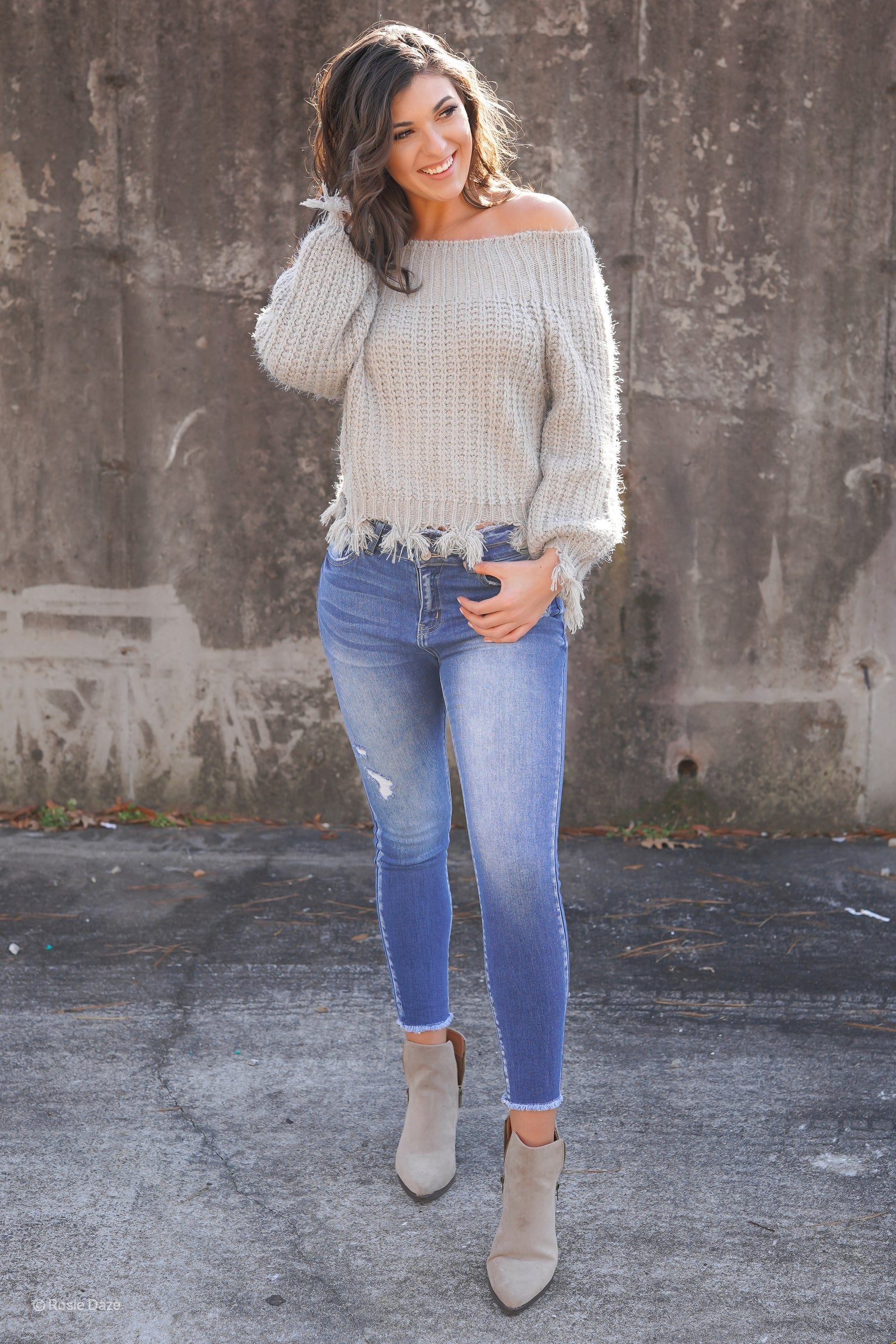 The Wesley Distressed Sweater