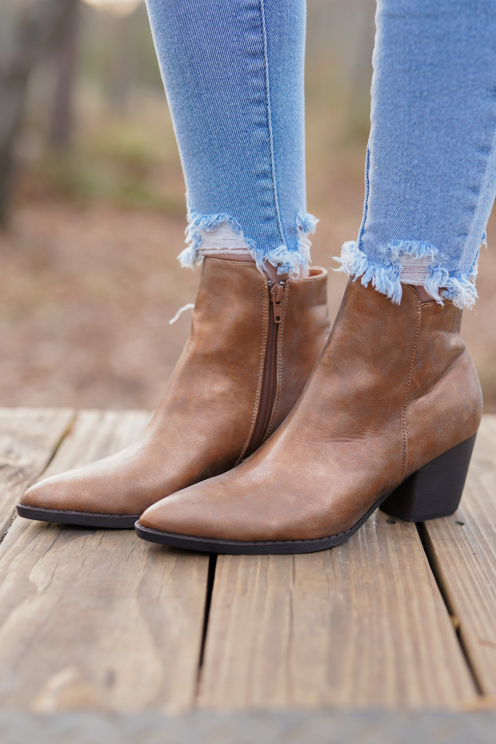 Celeste Booties - Copper