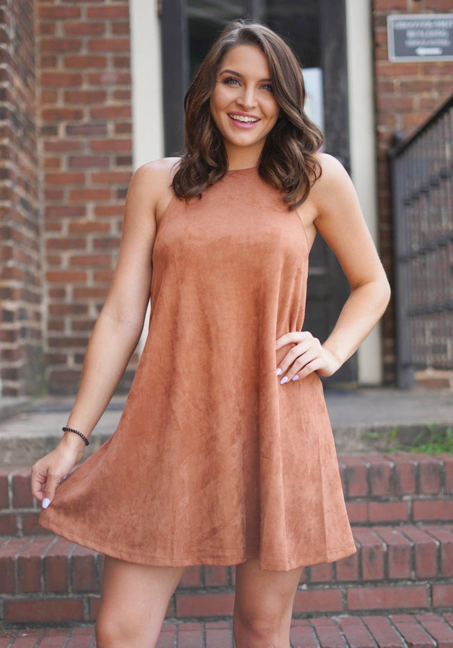 Flirty Faux Suede Dress