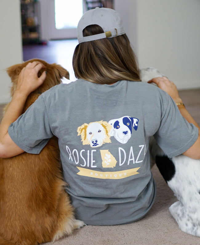 Rosie Daze Dog Logo Top