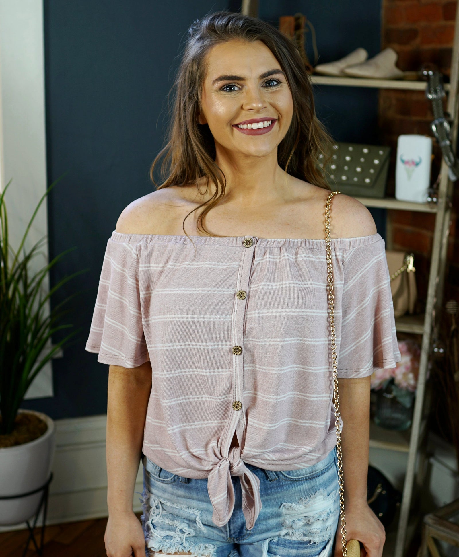 Zoey Button Down Top