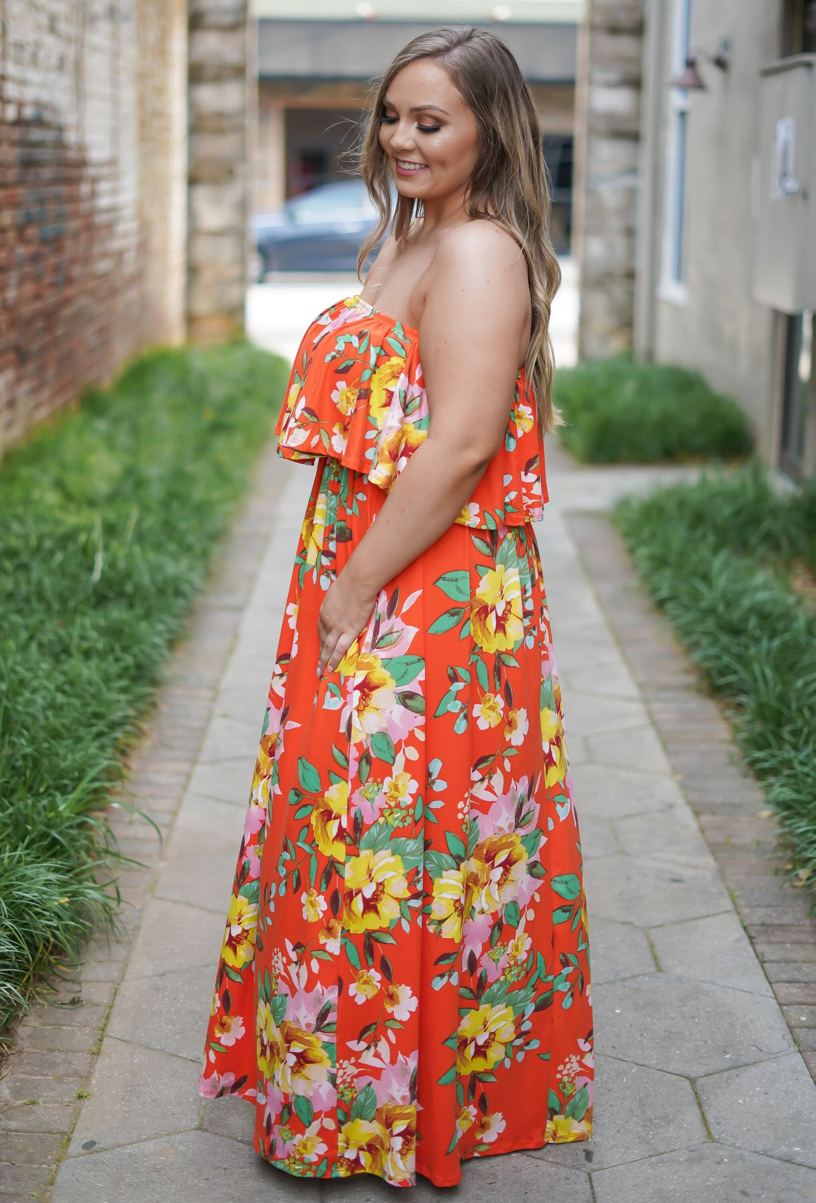 Sweet Citrus Maxi Dress