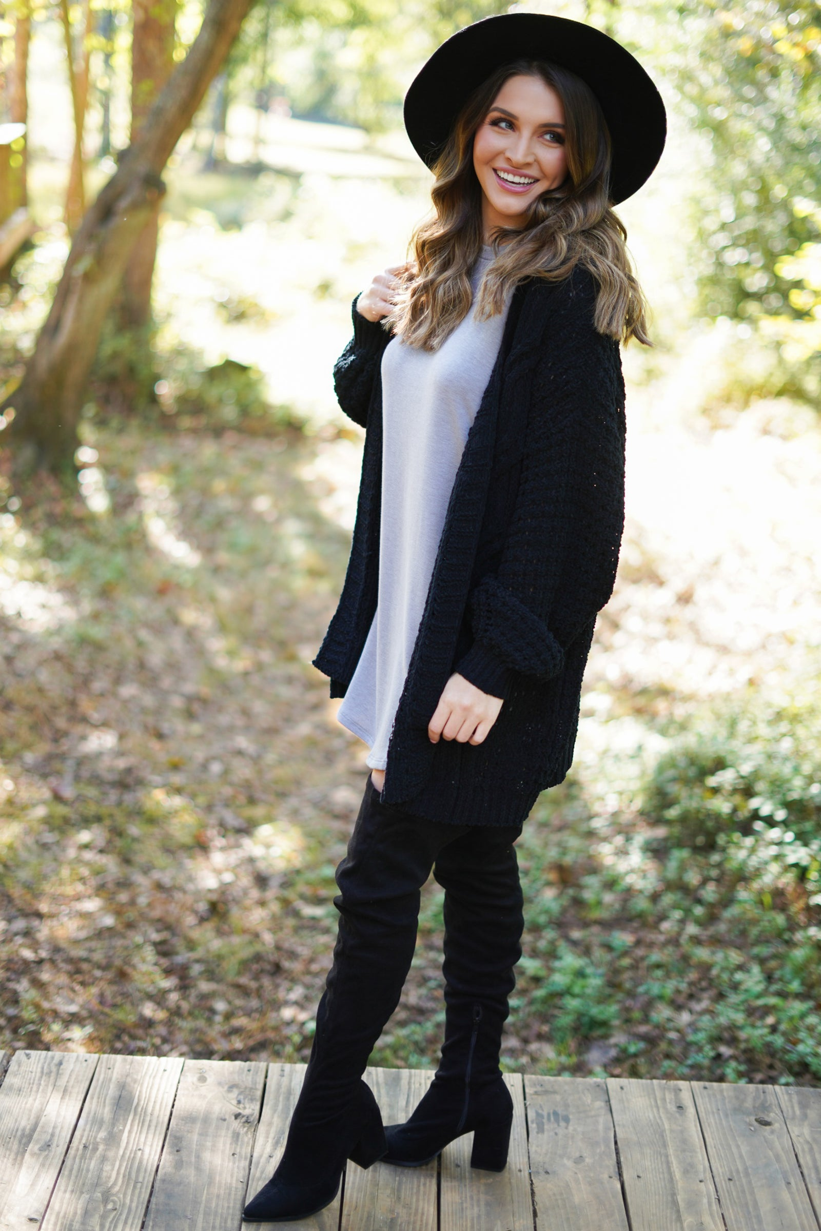 Wanna Be Cardigan - Black