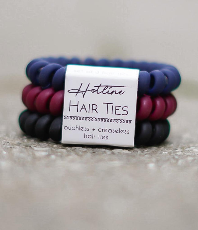 Got Your Back Hair Ties - Red Velvet Matte Set