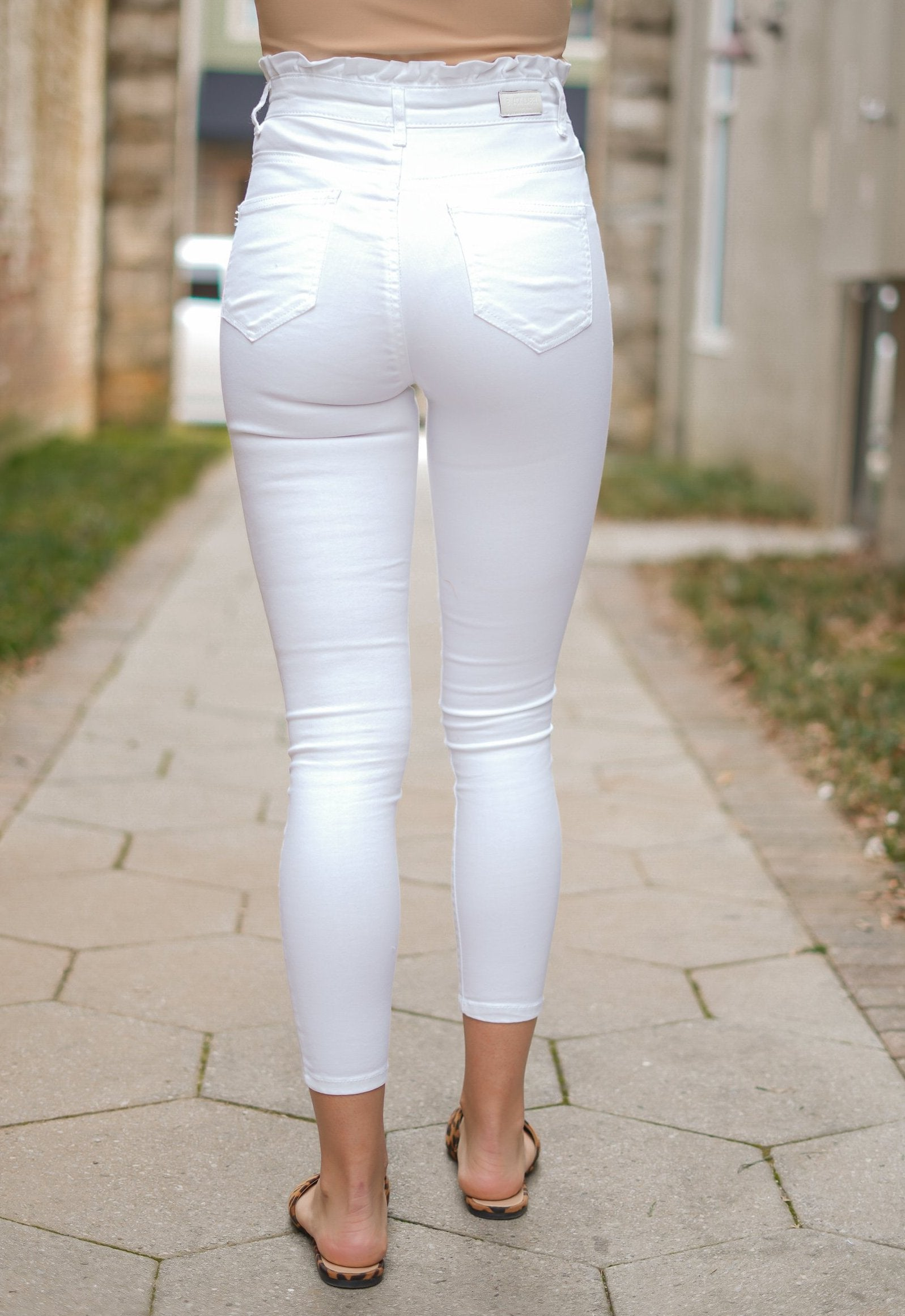 All Tied Up Skinnies - White