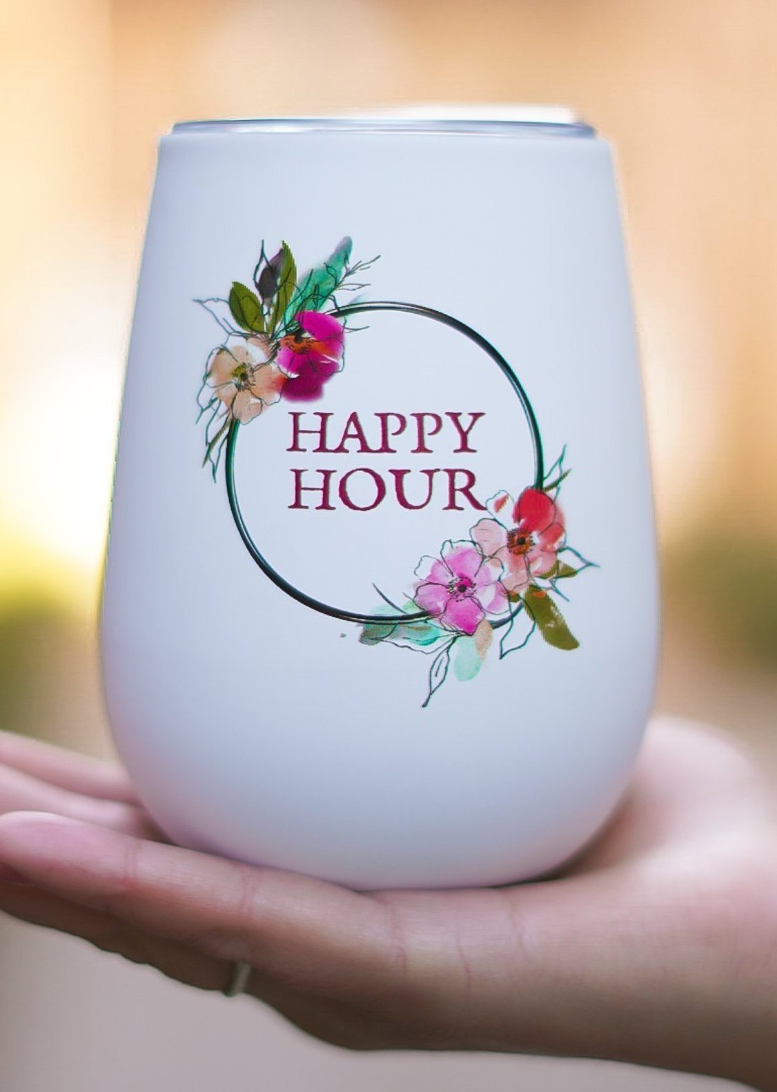 Happy Hour Wine Tumbler