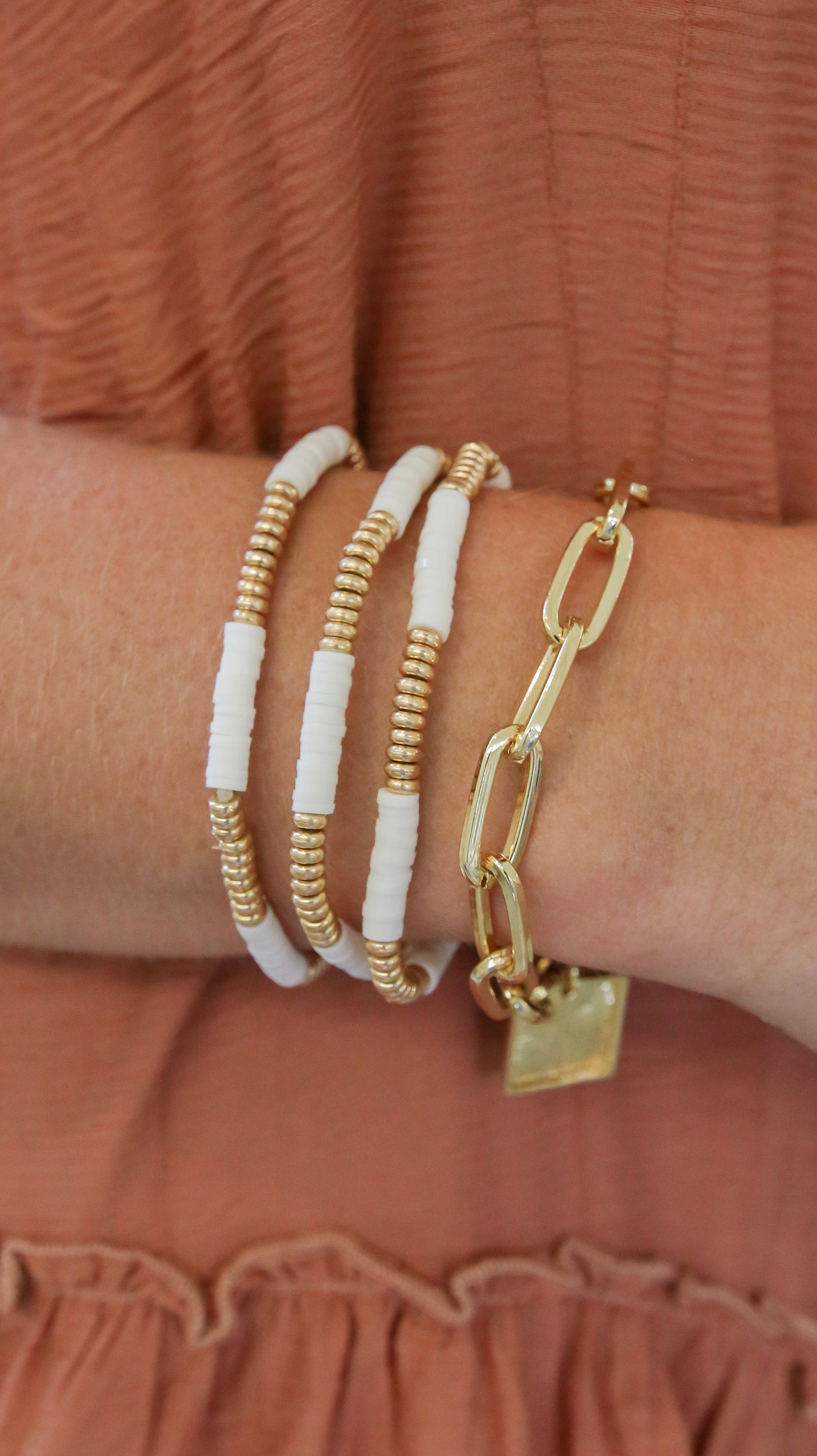 Make A Wish Bracelet Set - White