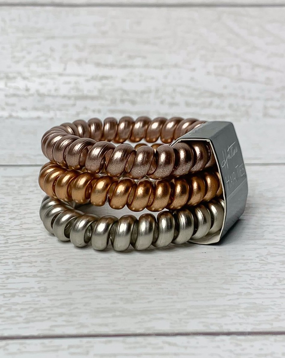 Got Your Back Hair Ties - Mixed Metals Luxe