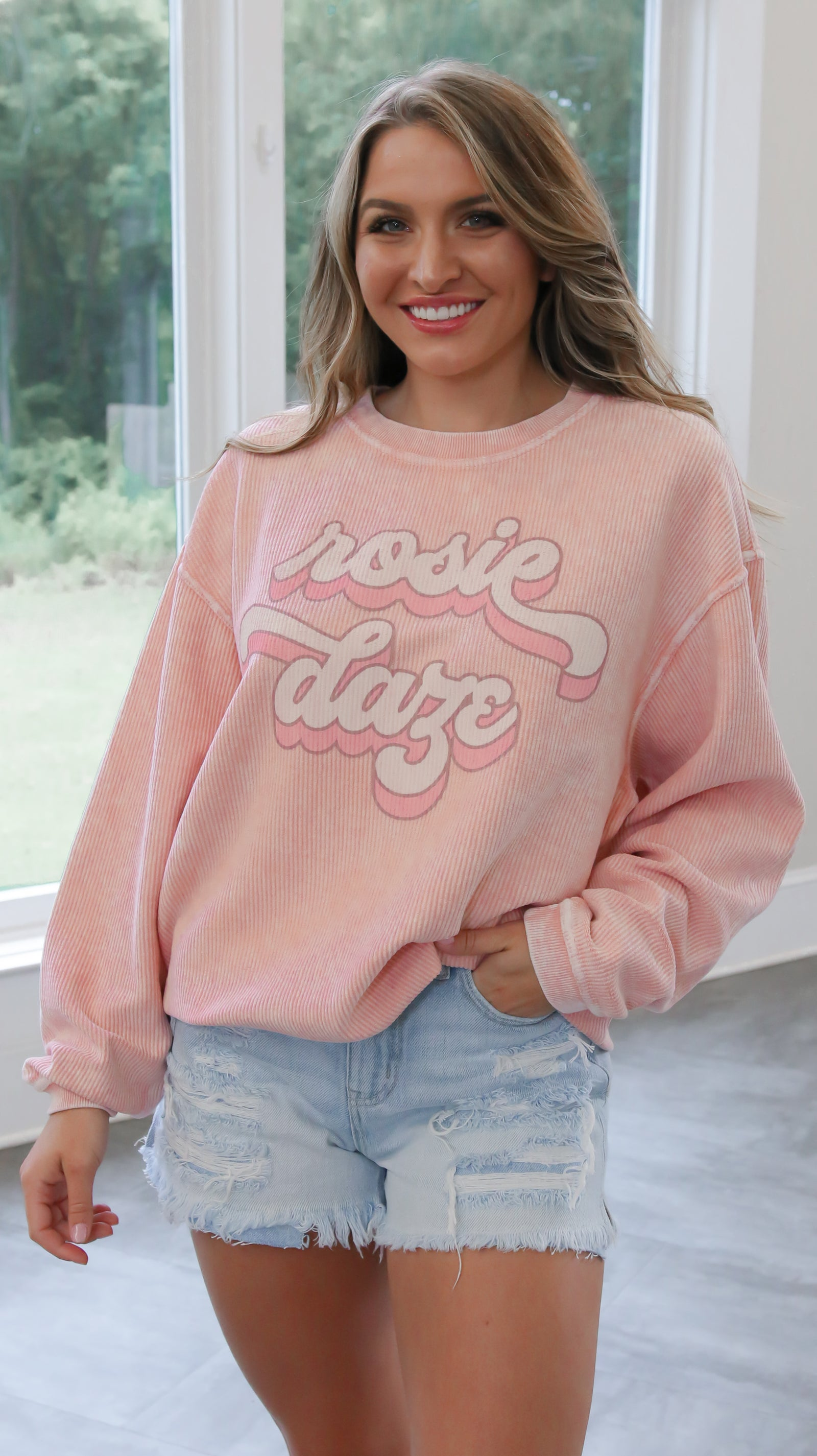 Rosie Daze Retro Crew - Blush