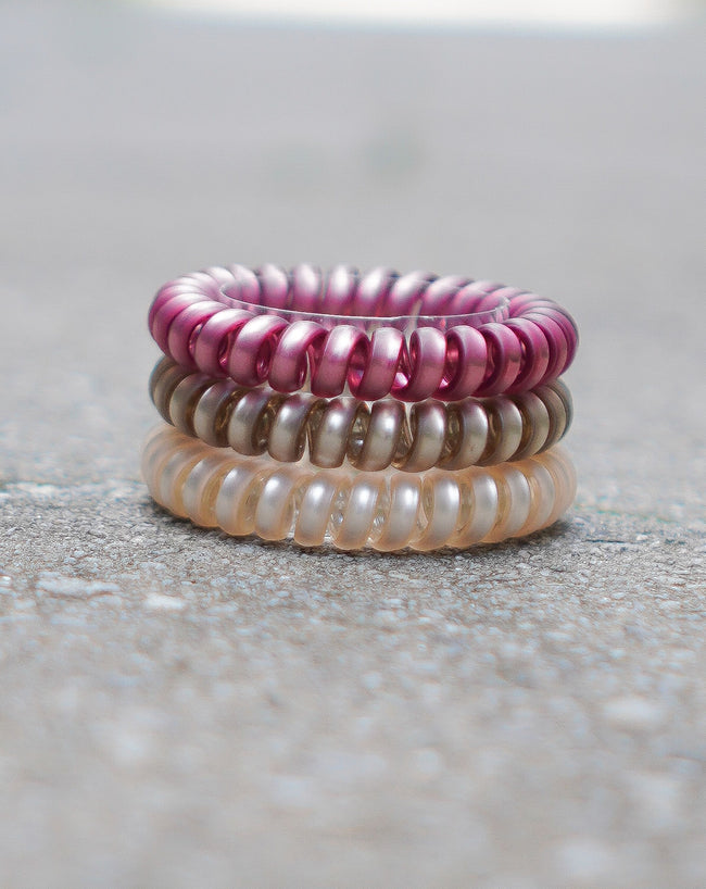 Got Your Back Hair Ties - Rose' Pearl Set
