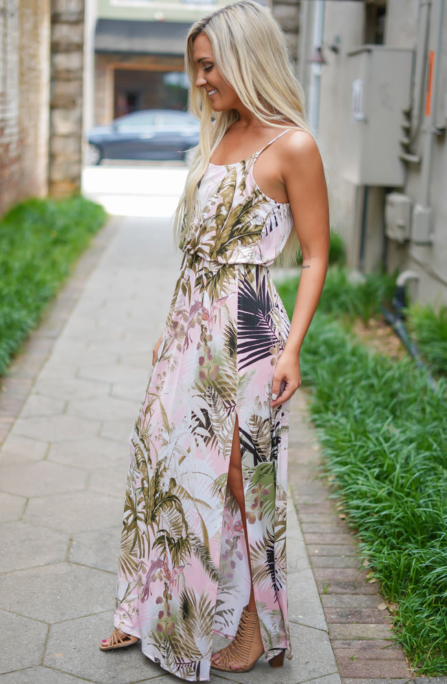 Palm Leaf Princess Maxi