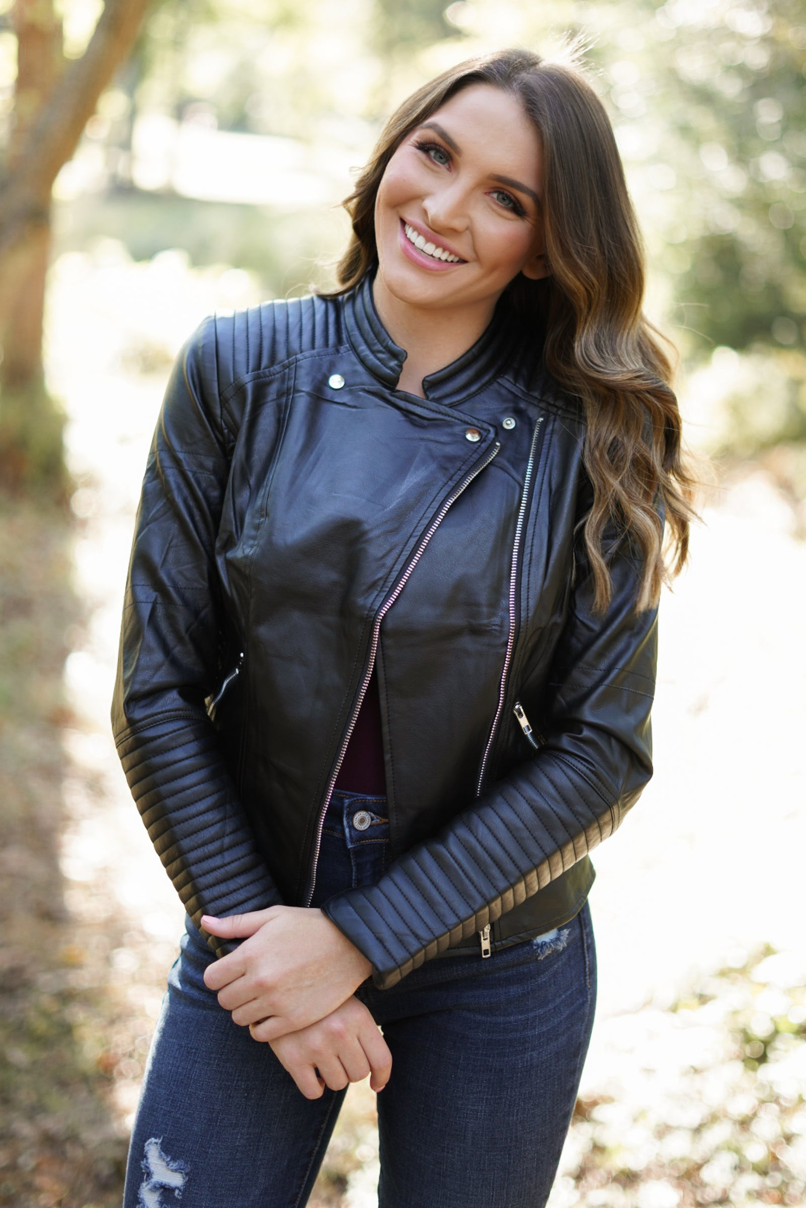 Grease Faux Leather Jacket - Black