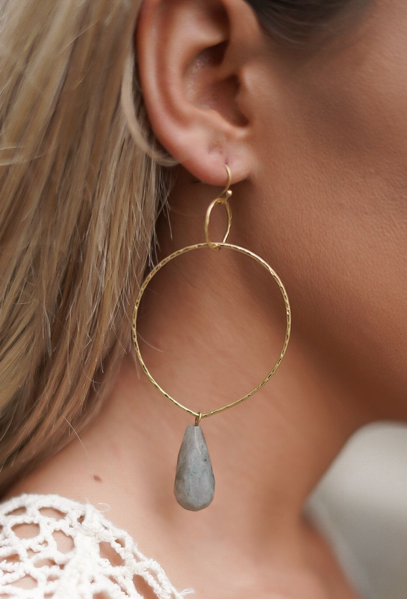 Stone Drop Earrings