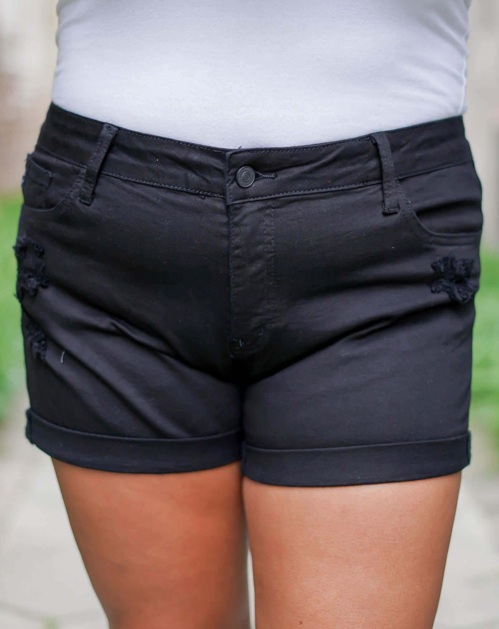 Back To Basics KanCan Shorts - Black - Curvy