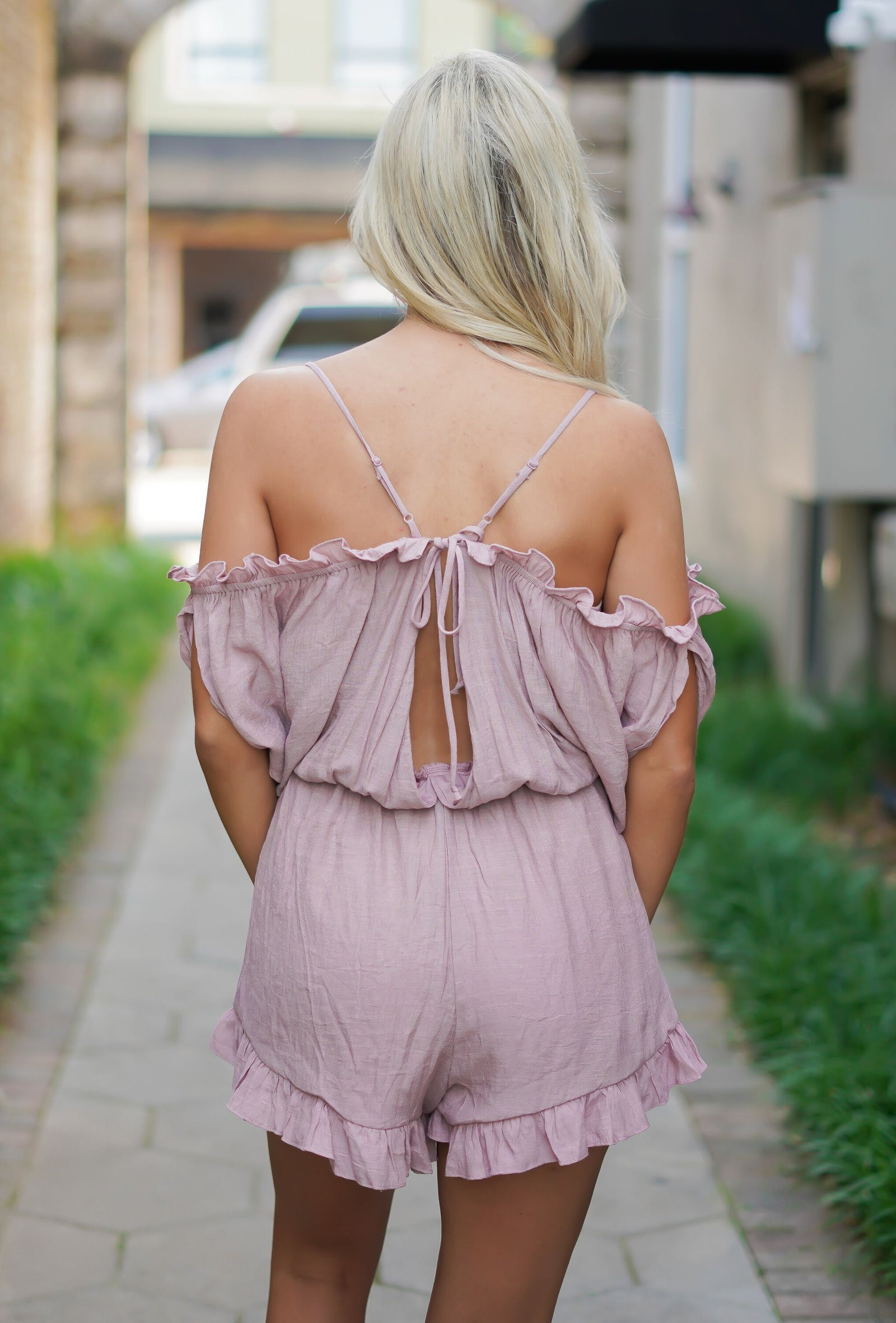 Keep It Up Romper - Mauve