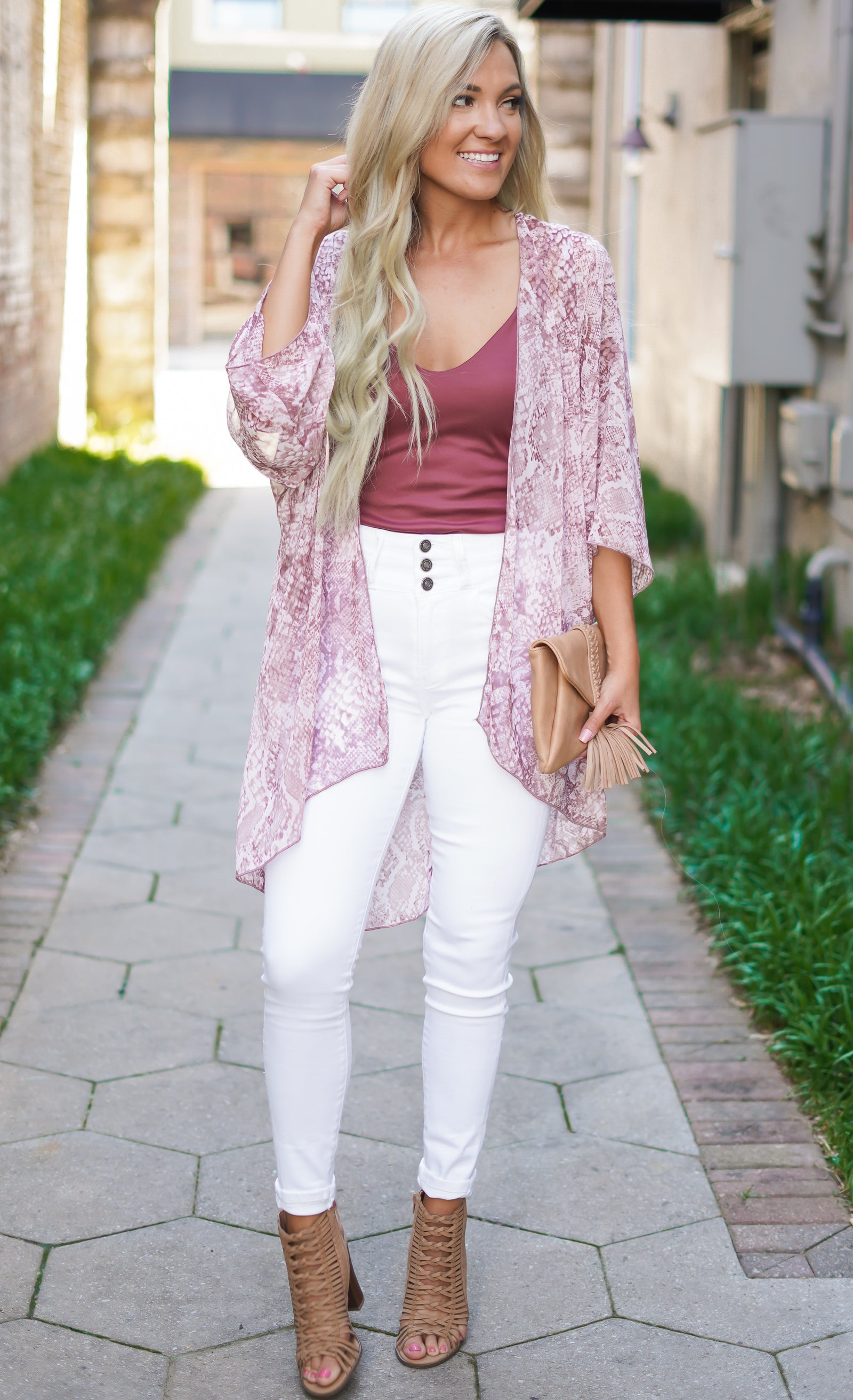 All the Feels Snakeskin Kimono